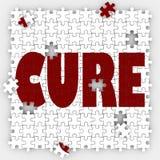 Investigación curativa del tratamiento de la medicina del agujero del pedazo del rompecabezas de la palabra de la curación libre illustration