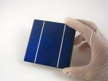 Investigación de la célula solar fotografía de archivo