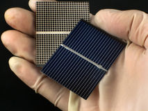 Investigación de la célula solar Fotografía de archivo libre de regalías