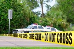 Investigación de la escena del crimen Fotos de archivo libres de regalías