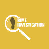 Investigación del crimen Fotografía de archivo libre de regalías