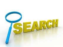 Investigación del detective de la información del hallazgo de la búsqueda Imagen de archivo libre de regalías