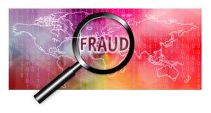 Investigación del fraude del foco del concepto de la seguridad ilustración del vector