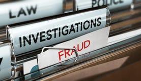 Investigación del fraude, detective Files stock de ilustración