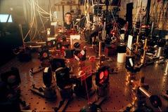 Investigación del ordenador de Quantum Fotos de archivo libres de regalías