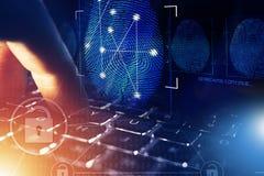 Investigación en línea de la seguridad ilustración del vector