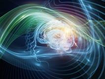 Investigación en la mente Imágenes de archivo libres de regalías