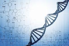 Investigación genética de la biotecnología ilustración del vector