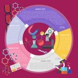 Investigación Infographic Fotografía de archivo