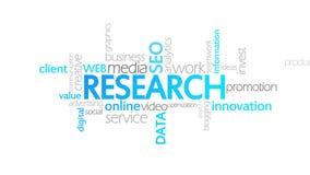 Investigación, tipografía animada ilustración del vector