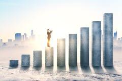 Investigación y concepto de la inversión stock de ilustración