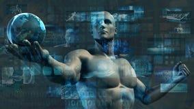 Investigación y raza de la tecnología al éxito como concepto libre illustration