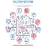 Investigación y análisis Infographics Foto de archivo libre de regalías