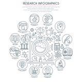 Investigación y análisis Infographics Imagenes de archivo