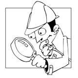 Investigador ilustración del vector