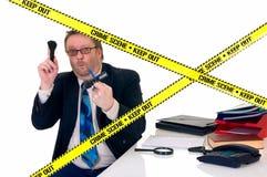 Investigador de la escena del crimen de CSI Imagenes de archivo