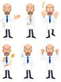 Investigador Dr Sistema de la actitud del varón 6 del veterano ilustración del vector