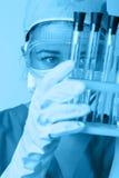 Investigador en el laboratorio Foto de archivo