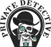 Investigador privado Skull stock de ilustración