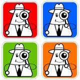 Investigate. Inspector or private investigator having a closer look Stock Images