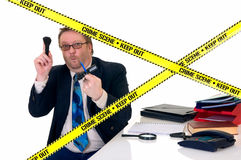 Investigateur de scène du crime de CSI Images stock