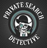 Investigateur privé Skull illustration de vecteur