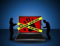 Investigateurs de scène du crime d'Internet illustration de vecteur