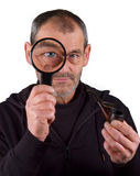 Investigating detective Royalty Free Stock Photos
