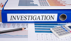 Investigation Binder in the Office royalty free stock photo