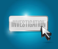 Investigation button sign concept illustration Stock Photography