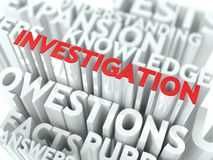 Investigation Concept. Stock Images