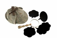 Investigation Concept With  Sherlock Holmes Hat Famous As  Deers Stock Photo