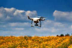 Drone in the sky. royalty free stock photography