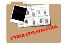 Investigation  folder Royalty Free Stock Photography