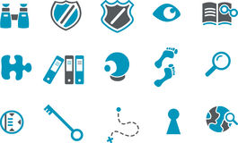 Investigation Icon Set Royalty Free Stock Photography
