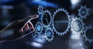 Investigation inspection audit business concept on virtual screen. Investigation inspection audit business concept on virtual screen stock illustration