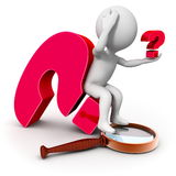 Investigation and new question Stock Photo