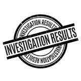 Investigation Results rubber stamp Stock Photo