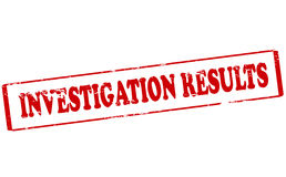 Investigation results Royalty Free Stock Photography