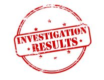 Investigation results. Rubber stamp with text investigation results inside,  illustration Royalty Free Stock Photos