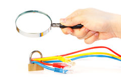 Investigation of the secured network Stock Photo