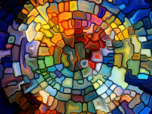 Investigation on Stained Glass Royalty Free Stock Images