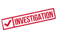 Investigation stamp rubber grunge Royalty Free Stock Photo