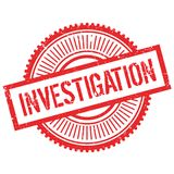 Investigation stamp rubber grunge Stock Photos