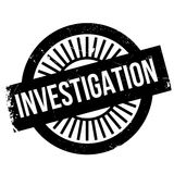 Investigation stamp rubber grunge Stock Image