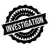 Investigation stamp rubber grunge Royalty Free Stock Images