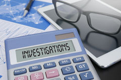 INVESTIGATIONS CONCEPT Royalty Free Stock Photography