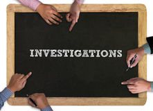 INVESTIGATIONS CONCEPT stock photos