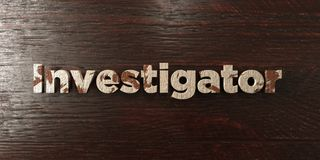 Investigator - grungy wooden headline on Maple  - 3D rendered royalty free stock image Stock Photography