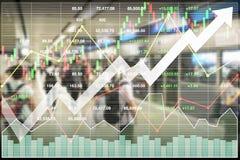 Investimento bem sucedido financeiro do índice de ações no transporte imagens de stock royalty free